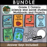 BUNDLE: Grade 2 Ontario Science and Social Studies Workbooks and Projects