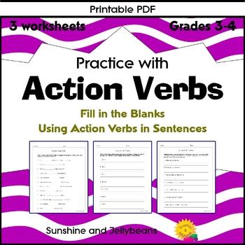 BUNDLE - Grade 3 - Verbs & Verb Tenses - 16 worksheets - Great Practice! - CCSS