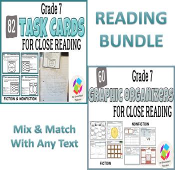 BUNDLE: Grade 7 Common Core Reading Graphic Organizers AND