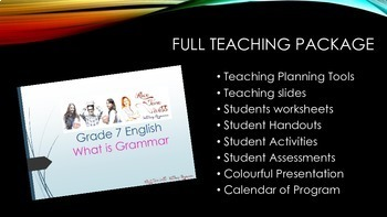 BRONZE BUNDLE - Grade 7 English Unit - What is Grammar
