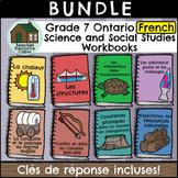 BUNDLE: Grade 7 FRENCH Ontario Science and Social Studies Workbooks