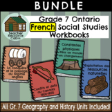 BUNDLE: Grade 7 Ontario FRENCH Geography and History Workbooks