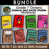 BUNDLE: Grade 7 Ontario Science and Social Studies Workbooks