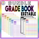 BUNDLE!! Variety Pack of Grade Book Templates - FULLY EDITABLE!