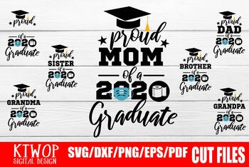 Bundle Graduation Senior 2020 Quarantine Svg Digital Downloads Proud Svg
