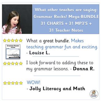 Grammar Songs MEGA BUNDLE complements Jolly Grammar  | SASSOON Font