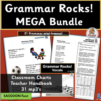 Grammar Rocks! MEGA Bundle ~ 31 mp3's, Charts & Handbook |