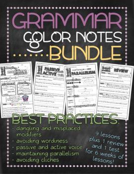 BUNDLE! Grammar doodle notes: Best practices