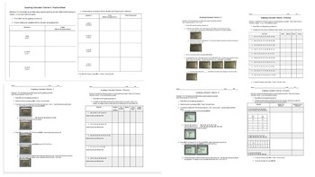 BUNDLE! Graphing Calculator Tutorials 1-8 and Practice Sheets Intro to the Calc