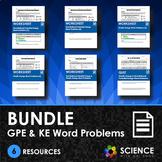 BUNDLE - GPE & KE Word Problems & Quiz - Distance Learning