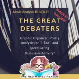 BUNDLE! The Great Debaters movie Graphic Organizer + Speed Dating Discussion