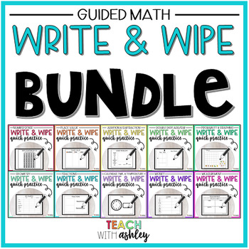BUNDLE Guided Math Write & Wipes