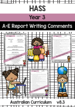 BUNDLE - HASS, Maths, English, Science - Report Writing - Year 3 - Aust Curr