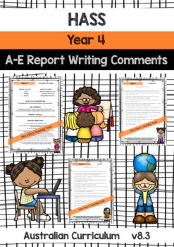 BUNDLE - HASS, Maths, English, Science - Report Writing - Year 4 - Aust Curr