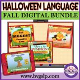 BUNDLE Halloween Language and Literacy NO PREP NO PRINT Teletherapy