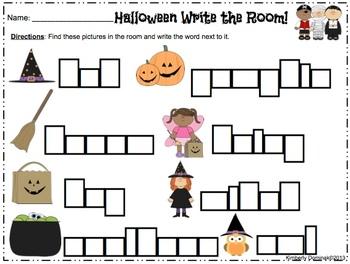 **BUNDLE** Halloween Literacy & Math Activities for Kindergarten