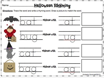 **BUNDLE** Halloween Literacy & Math Activities for Kindergarten