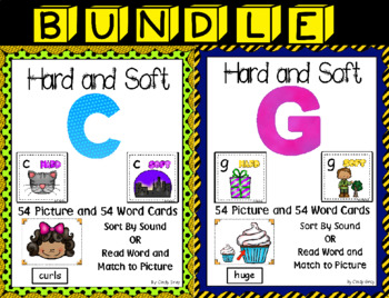 BUNDLE Hard and Soft C & G ~ Pocket Chart Sort with Matching Word Cards