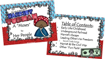 BUNDLE-Harriet Tubman: Life/Times, All About Harriet, Quick Print Activities