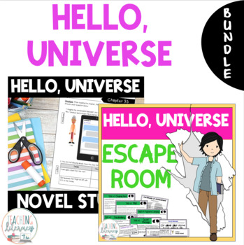 Hello, Universe Novel Study and Escape Room Bundle