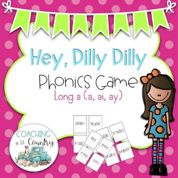 BUNDLE Hey, Dilly Dilly Phonics Game Long a, e, i, o, u