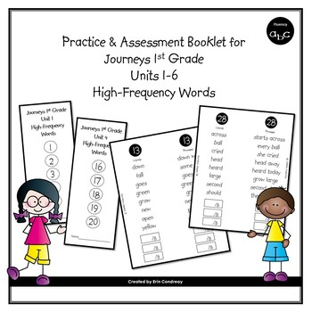 BUNDLE High-Frequency Word Booklets for 1st Grade Journeys Units 1-6