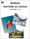 BUNDLE: Histoire du Canada vol 1, 2, 3, French immersion