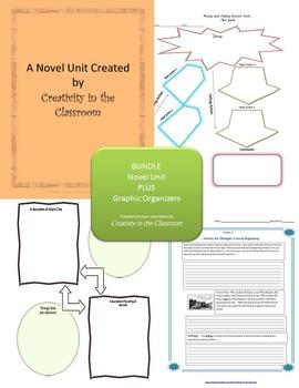 BUNDLE: Holes Novel Unit Plus Grammar AND Graphic Organizers