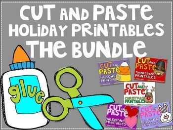 BUNDLE: Holiday Cut and Paste Printables