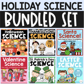 BUNDLE:  7 Holiday Science Sets (From Halloween to Easter)