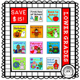 Math and Literacy activities HOLIDAY BUNDLE! {lower grades}