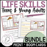 BUNDLE Home and Community Life Skills for Teens Young Adul