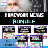 Homework Choice Board or Grid. 10 Themes, No Prep!! USA Ed: BUNDLE
