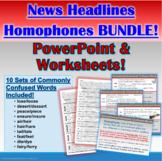 BUNDLE: Homophones in News Headlines Interactive PowerPoin