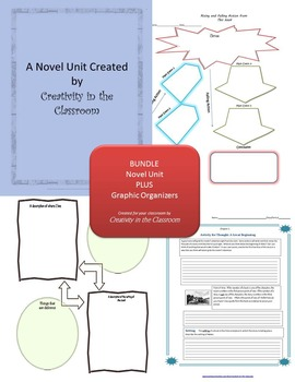 BUNDLE: Hoot Novel Unit Plus Grammar AND Graphic Organizers