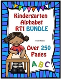 BUNDLE! Huge Kindergarten RTI Alphabet Recognition Pack  250 Activity Printables