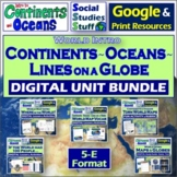 BUNDLE | Google Classroom | Continents & World Map 5-E Uni