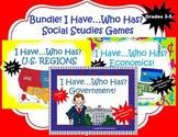 BUNDLE! I HAVE...WHO HAS Social Studies Games! Grades 3-5