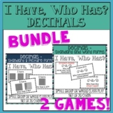 BUNDLE - I Have, Who Has? Decimals with Words and Pictures