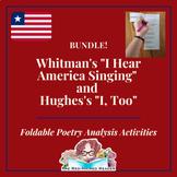 BUNDLE: I Sing America and I, Too: Whitman and Hughes poet
