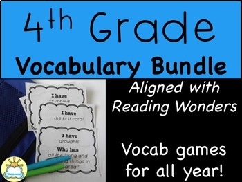 BUNDLE 4th Grade Vocabulary Games for EVERY Week