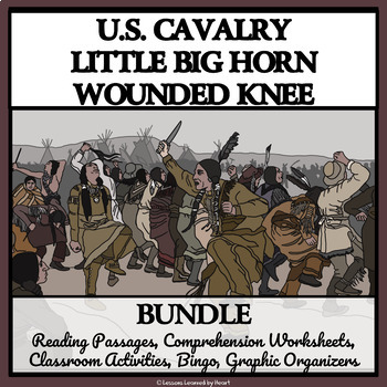 BUNDLE - INDIAN WARS, LITTLE BIGHORN, WOUNDED KNEE AND GEO