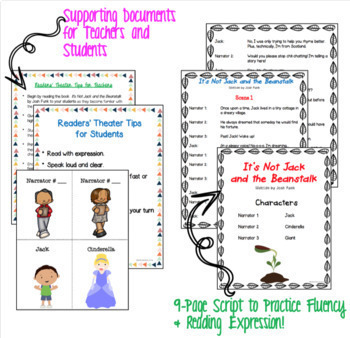 IT'S NOT Jack and the Beanstalk Readers' Theater and Differentiated Book Study