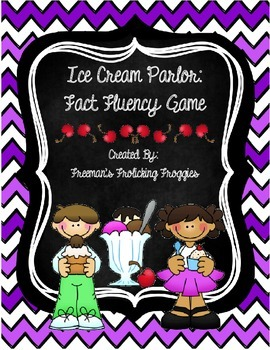 BUNDLE-Ice Cream Parlor Games-Fact Fluency and Sight Words