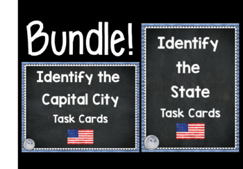 BUNDLE- Identify States and Capital Cities Task Cards