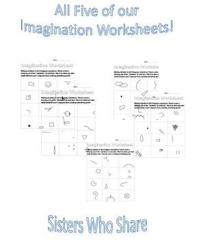 BUNDLE Imagination Worksheets - Growth Mindset and Art