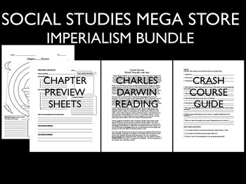 Imperialism Africa and India and Japan and China Bundle Reading Writing Activity
