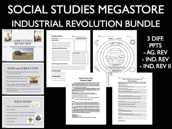 Industrial Revolution & Agricultural Revolution Reading Activity Project Bundle