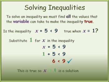 BUNDLE - Inequalities PowerPoint and Worksheets - with answers