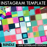 BUNDLE - Instagram Social Media Templates - 6 sets